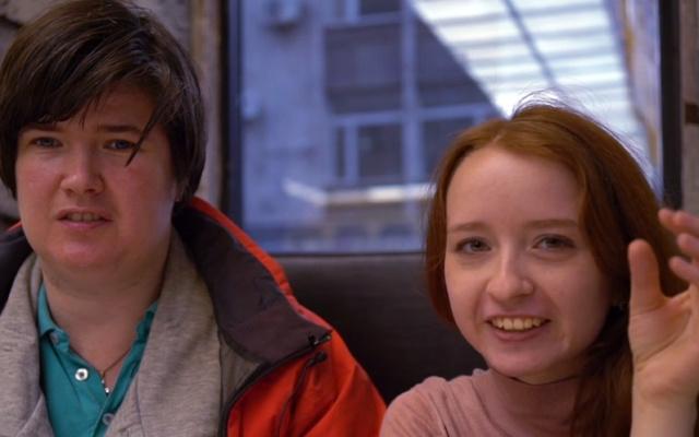 Заставка для - Смотрите, я здесь: Катя и Даша