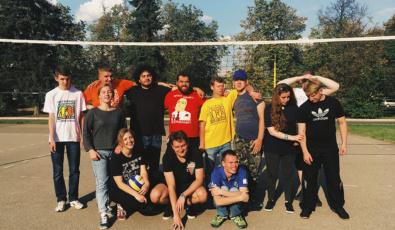 Участники программы фонда с волонтерами