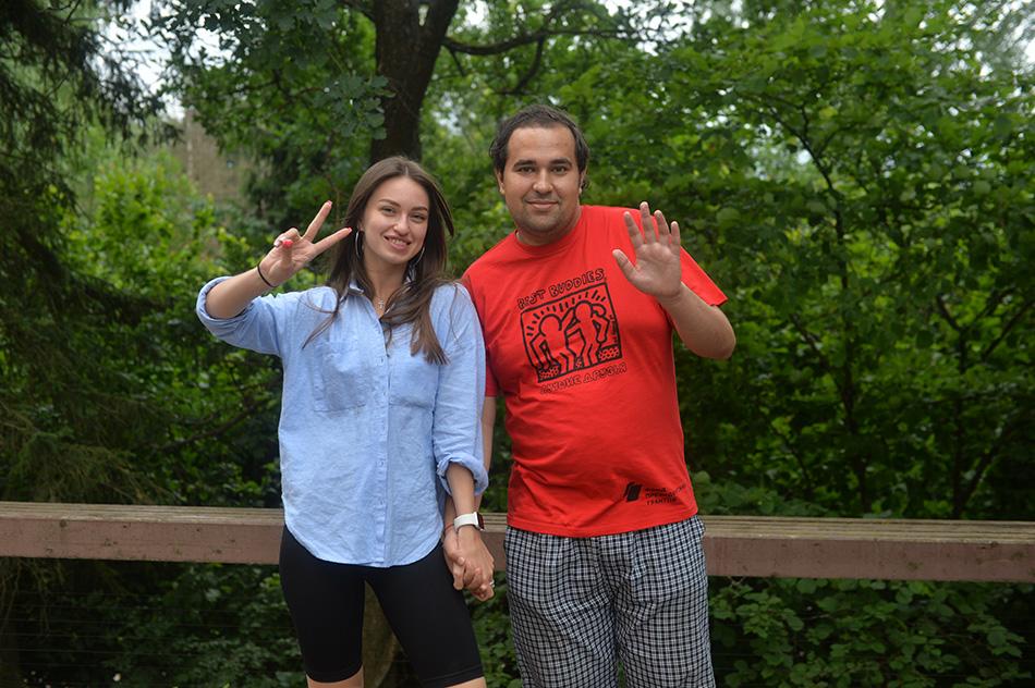 Полина и Дима